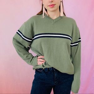 Vtg Late 90s Y2K Striped Sweater